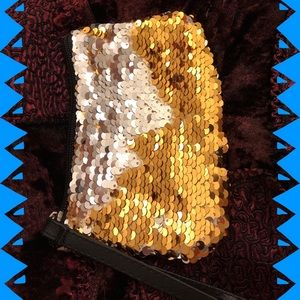 🆕 Wristlet Bag-Small, Change or Cosmetic, Sequins